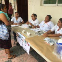 Inician campaña de vacunación en bajos de Palacio Municipal de Tuxtepec