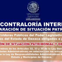 Exhortan a funcionarios a presentar su declaración de modificación patrimonial para evitar sanciones