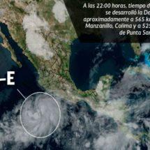 Se forma una nueva depresión tropical en el Pacífico