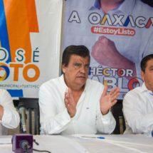 """Cierran Filas Candidatos """"Por Oaxaca al Frente"""" con José Soto para ganar Presidencia tuxtepecana"""