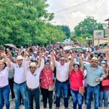 La fuerza del PRI se hace presente en Jalapa de Díaz, Larisa León respalda el proyecto de Álvaro Rafael