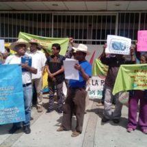 En CONAGUA activistas de COPUDA exigen su libre derecho al agua