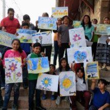 El pintor mixteco Germaín Martínez, un autodidacta que sobresale en Huajuapan