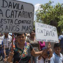 Vamos con Dávila 3 años más, exclaman en colonias y comunidades de Tuxtepec