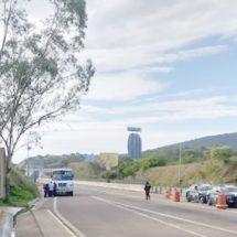 Policía Federal evita que normalistas tomaran caseta de peaje de Huitzo