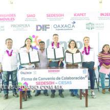 Refrenda Alejandro Murat compromiso de su gobierno para combatir el rezago social en Oaxaca