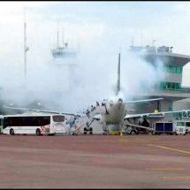 ¡Evacuan avión de Volaris!