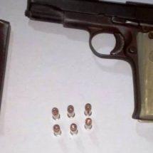 DETENIDO EN LA COSTA CON PISTOLA CALIBRE 22, FUE CONSIGNADO ANTE LA PGR: POLICÍA ESTATAL