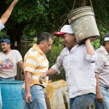 Con unidad, trabajo y esfuerzo de la comunidad continúan los Tequios por Tuxtepec: Dávila