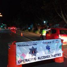 Asegura SSPO a 28 personas en Operativo Alcoholímetro