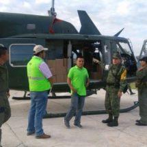 A través de puente aéreo CEPCO y Ejército trasladan a menor embarazada