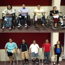 Tuxtepecanos  agradecen a María Luisa Vallejo el apoyo y esperanza para recibir sus prótesis