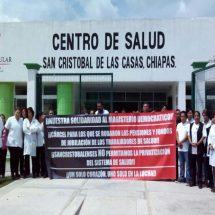 Siguen en paro trabajdores de salud de Chiapas
