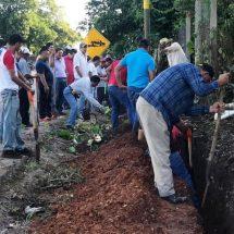 La colonia Popular Bella Vista tendrá agua potable; un tequio más por Tuxtepec