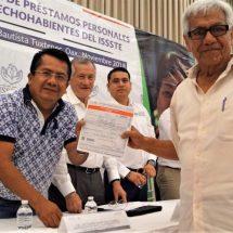 Préstamos personales a trabajadores del ISSSTE, beneficiarán la economía de Tuxtepec: Octavio Santana