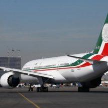 Llega avión presidencial a California para continuar proceso de venta