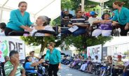 Realiza María Luisa Vallejo la tercera entrega de sillas de ruedas y andaderas
