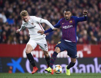 Sevilla frena y vence al Barcelona