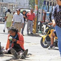 Impedida, Policía para desalojar indigentes en Oaxaca