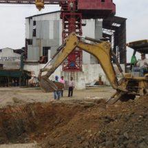 Avanza construcción de colector principal de la red de drenaje en Cosamaloapan