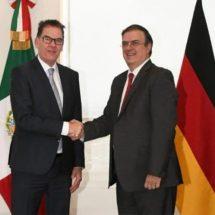 Marcelo Ebrard se reúne con el ministro alemán Gerd Müller