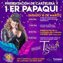 """Este sábado, Primer Papaqui y presentación de cartelera del Carnaval """"Tuxtepec 2019"""""""