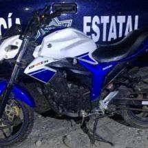 RECUPERAN MOTOCICLETA CON REPORTE DE ROBO DURANTE PATRULLAJES