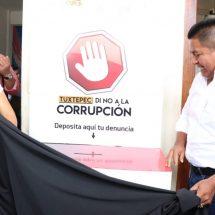"""Dávila gobierna con transparencia, presenta """"Tuxtepec, Di No a la Corrupción"""""""