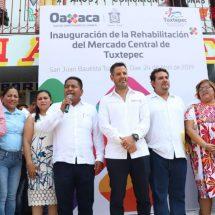 Dávila y Murat inauguran remodelación del Mercado Central de Tuxtepec