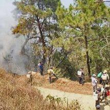 Dejan incendios sin agua y luz la zona Mixe-Zapoteca