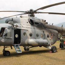 Helicóptero accidentado, con combustible y mantenimiento: Marina