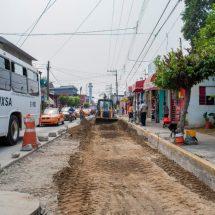 Avanza la reparación de losas en la avenida Libertad