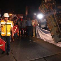Arranca Dávila reposición de losas en la avenida Libertad
