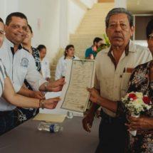 Raúl Hermida y Liz Moreno, testigos de 25 parejas que se casaron en Cosamaloapan