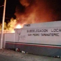 Prenden fuego a estación migratoria en Tapanatepec