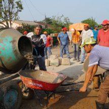 Con tequios transformamos el rostro de colonias y comunidades de Tuxtepec: Dávila