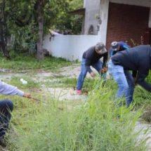En la Agencia de San Juan Bautista la Raya se realizó el Tequio por Xoxo para limpiar calles y áreas comunes
