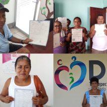 María Luisa Vallejo García contribuye a registro extemporáneo de 80 personas