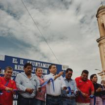 Raúl Hermida inaugura drenaje y pavimentación de la calle Venustiano Carranza