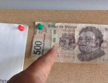 En la cuenca del Papaloapan detectan billete falso de $500 pesos