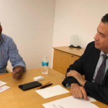 Dávila se reúne con el Subsecretario de Seguridad Pública Federal