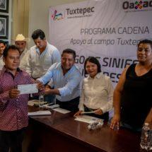 Entrega Dávila apoyo a 153 productores que vieron siniestrada su siembra de maíz