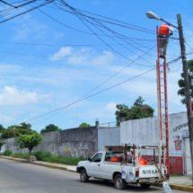 Tuxtepec prospera con la modernización del alumbrado Público