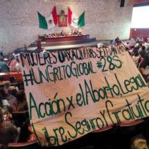 Diputados despenalizan el Aborto en Oaxaca