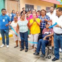 Inaugura Raúl Hermida Salto vialidad Melchor Ocampo en Cosamaloapan