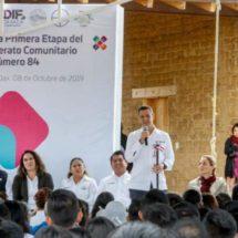 El gobernador Alejandro Murat entregó primera etapa de telebachillerato que impulsó el Maestro Toledo
