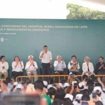 En Huajuapan reconoce el gobernador Murat compromiso de AMLO en salud