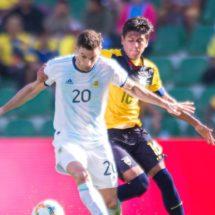 Argentina enseña poderío ofensivo ante Ecuador