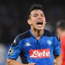 Con gol del Chucky Lozano, Napoli empató ante el Salzburg