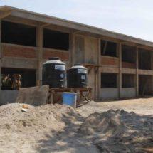 Abandonan obra de prepa en Tehuantepec